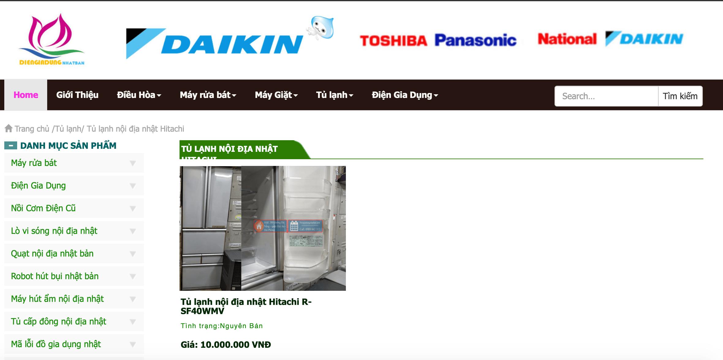 Điện gia dụng Nhật Bản - Hải Phòng